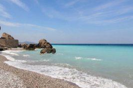 La costa occidentale dell'isola di Rodi